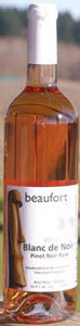 Beaufort Blanc De Noir Pinot Noir Rose 2012, Comox Valley, Vancouver Island Bottle