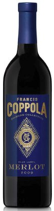 Francis Coppola Diamond Collection Blue Label Merlot 2011, California Bottle