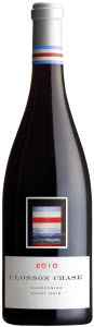 Closson Chase Churchside Pinot Noir 2010, Prince Edward County  Bottle