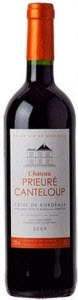Château Prieure Canteloup 2009, Ac Côtes De Bordeaux Bottle