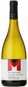 Meyer Family Chardonnay Tribute Series   Winnifred Stewart 2011, Okanagan Valley Bottle