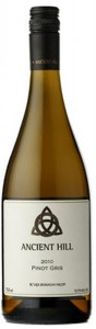 Ancient Hill Pinot Gris 2010, BC VQA Okanagan Valley Bottle