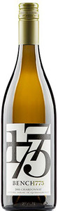 Bench 1775 Chardonnay 2011, BC VQA Okanagan Valley Bottle
