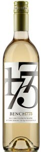 Bench 1775 Sauvignon Blanc 2012, BC VQA Okanagan Valley Bottle