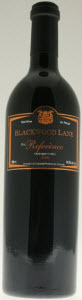 Blackwood Reference 2007, BC VQA Fraser Valley Bottle
