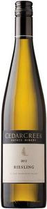 CedarCreek Riesling 2012, BC VQA Okanagan Valley Bottle