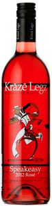 Kraze Legz Speakeasy Rosé 2012, BC VQA Okanagan Valley Bottle