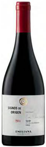 Emiliana Winemaker's Selection Syrah 2011, Casablanca Valley Bottle