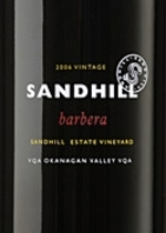 Sandhill Barbera Small Lots 2009, BC VQA Okanagan Valley Bottle
