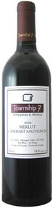 Township 7 Merlot Cabernet 2010, BC VQA Fraser Valley Bottle