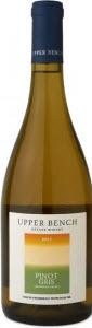 Upper Bench Pinot Gris 2011, BC VQA Okanagan Valley Bottle