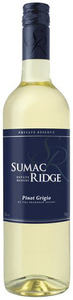 Sumac Ridge Private Reserve Pinot Grigio 2012, Bc Okanagan Valley Bottle