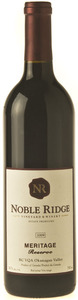 Noble Ridge Meritage Reserve 2006, BC VQA Okanagan Valley Bottle