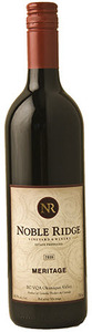Noble Ridge Meritage Estate 2010, BC VQA Okanagan Valley Bottle
