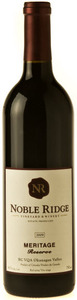 Noble Ridge Meritage Reserve 2008, BC VQA Okanagan Valley Bottle