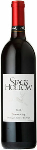 Stag's Hollow Winery Tempranillo 2011, Okanagan Valley Bottle