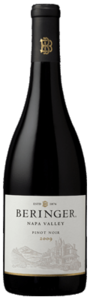Beringer Napa Valley Vineyards Pinot Noir 2010, Napa Valley Bottle