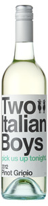 Two Italian Boys Pinot Grigio 2012, Riverina Bottle
