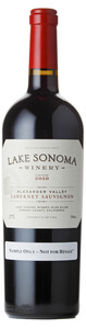 Lake Sonoma Winery Cabernet Sauvignon 2010, Alexander Valley, Sonoma County Bottle