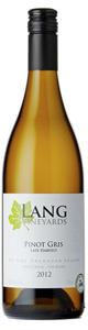 Lang Vineyards Late Harvest Pinot Gris 2012, VQA Okanagan Valley Bottle