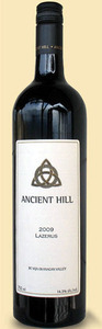 Ancient Hill Lazerus 2009, BC VQA Okanagan Valley Bottle