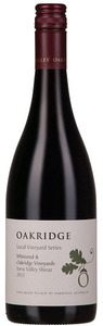 Oakridge Local Vineyard Series Shiraz, Whitsend And Oakridge Vineyards 2012, Yarra Valley Bottle