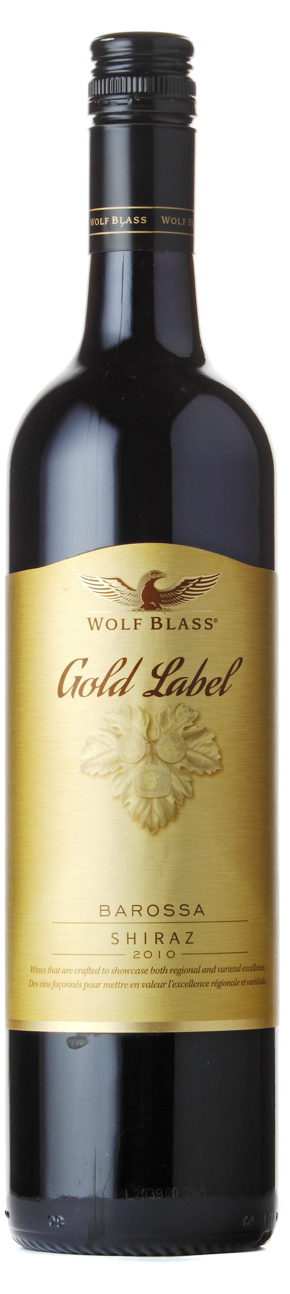 This is a picture of Wild Wolf Blass Barossa Shiraz Sapphire Label