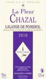 La Fleur Chazal 2010, Ac Saint émilion Grand Cru Bottle