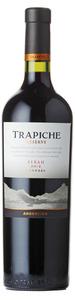 Trapiche Reserve Syrah 2012, Mendoza Bottle