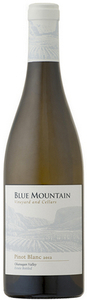 Blue Mountain Pinot Blanc 2012, Okanagan Valley Bottle