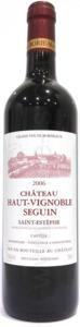 Château Haut Vignobles Seguin 2010, Ac Saint Estèphe Bottle