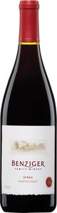 Benziger Syrah 2007, North Coast Bottle