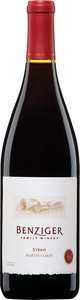 Benziger Syrah 2006, North Coast Bottle
