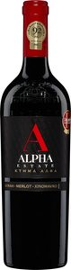 Alpha Estate Red 2008, Unfiltered, Pgi Florina Bottle