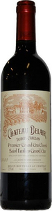 Chateau Belair 1er Grand Cru Classe 2000, Saint Emilion Bottle