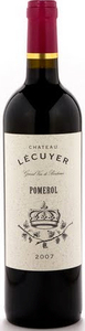 Château L'écuyer 2009, Pomerol Bottle