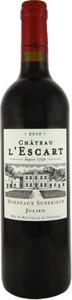 """Château L'escart """"Julien"""" 2010, Bordeaux Supérieur Bottle"""
