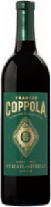 Francis Coppola Diamond Collection Green Label Syrah Shiraz 2011, California Bottle