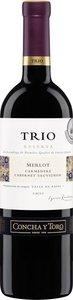 Concha Y Toro Trio Reserva Merlot/Carmenère/Cabernet Sauvignon 2012, Rapel Valley Bottle
