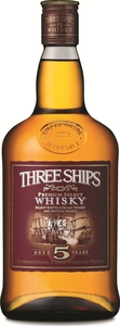Three Ships 5 Year Old Whisky Bottle