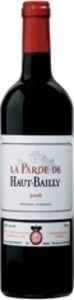 La Parde De Haut Bailly 2007, Ac Pessac Léognan, 2nd Wine Of Château Haut Bailly Bottle
