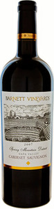Barnett Cabernet Sauvignon 2007, Spring Mountain District, Napa Valley Bottle