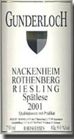 Gunderloch Nackenheim Rothenberg Riesling Spätlese 2011, Qmp, Estate Btld. Bottle