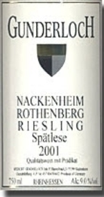 Gunderloch Nackenheim Rothenberg Riesling Spätlese 2007, Qmp, Estate Btld. Bottle