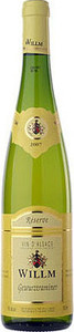 Alsace Willm Gewurztraminer 2012, Ac Alsace Bottle