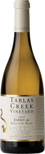 Tablas Creek Vineyard Esprit De Beaucastel Blanc 2010, Paso Robles Bottle
