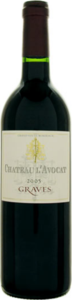 Château L'avocat 2010, Ac Graves Bottle