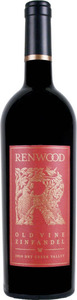Renwood Old Vine Zinfandel 2010, Amador County Bottle