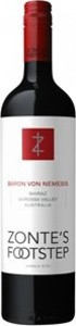 Zonte's Footstep Baron Von Nemesis Single Site Shiraz 2010, Barossa Valley Bottle