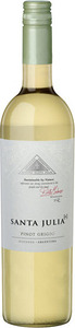 Santa Julia+ Pinot Grigio 2013, Mendoza Bottle